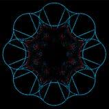 Imagination en spirale sur un fond noir illustration stock