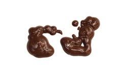 Imagination-figure abstraite créatrice de chocolat Images libres de droits