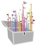Imagination fly. Creative design of imagination fly color vector illustration