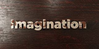 Imagination - grungy wooden headline on Maple  - 3D rendered royalty free stock image Stock Photos
