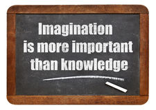Imagination and knowledge quote Stock Photos