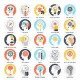 Imagination and Mind Power. Modern flat vector illustration of imagination and mind power icon design concept. Icon for mobile and web graphics. Flat symbol Stock Photos