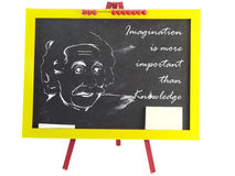 Imagination is more important than knowledge Royalty Free Stock Images