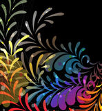 Imagination rainbow pattern. Imagination spectral elements on a black background Royalty Free Stock Photography