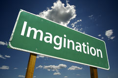 Imagination Road Sign Royalty Free Stock Images