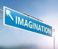 Imagination sign concept. 3d Illustration depicting a sign with an imagination concept Royalty Free Stock Photos