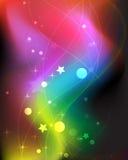 Imagination smoky rainbow background. Sparkling lights on a fantastic background Royalty Free Stock Image
