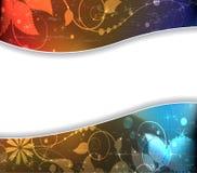 Imagination sparkling floral background Stock Images