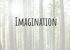 Imagination text with forest Royalty Free Stock Photography