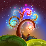 Imagination tree reading Royalty Free Stock Image