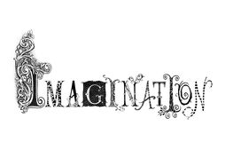Imagination Typography Illustration Stock Photos
