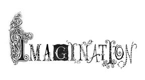Imagination Typography Illustration. Fanciful typography illustration of the word Imagination Royalty Free Stock Images