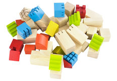 Imagination wooden blocks colorful toy isolated Stock Image