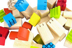 Imagination wooden blocks colorful toy isolated Royalty Free Stock Photography
