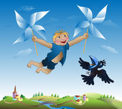 Imaginations of the little boy Royalty Free Stock Photo