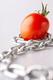 Imaginations with a red tomato Stock Image