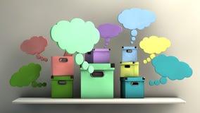 Imaginative boxes Stock Photography
