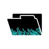 Imaginative folder icon Stock Images