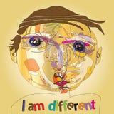 Imaginative kid portrait Stock Image