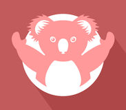 Imaginative koala icon Stock Images
