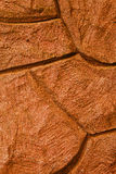 Imaginative orange stone / concrete background texture, with cur Royalty Free Stock Image