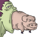 Imaginative pig. Creative design of imaginative pig Royalty Free Stock Images