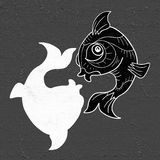 Imaginative pisces symbol. Creative design of imaginative pisces symbol Royalty Free Stock Photos