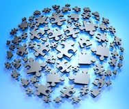 Imaginative puzzle pieces Royalty Free Stock Images