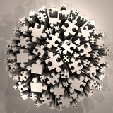 Imaginative puzzle pieces. Design of imaginative puzzle pieces Royalty Free Stock Photography