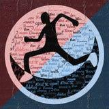 Imaginative runner illustration Stock Photography