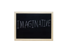 IMAGINATIVE written with white chalk on blackboard Royalty Free Stock Photo