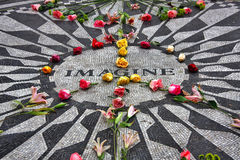 Imagine. Mosaic tribute to John Lennon in Central Park, NYC Stock Photos