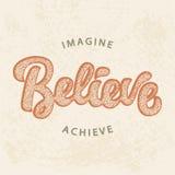 Imagine, acredite, consiga ilustração stock