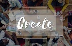 Imagine create conceptualize ideas concept stock image