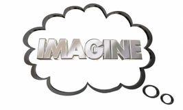 Imagine Create Innovate Imagination Thought Cloud Bubble Stock Photos