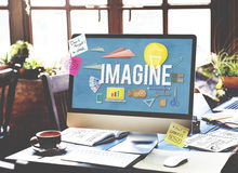Imagine Creative Dream Expect Ideas Vision Concept Royalty Free Stock Photography