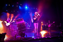 Imagine Dragons perforrms live at Coliseu dos Recreios in Lisbon, Portugal Royalty Free Stock Photo