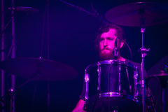 Imagine Dragons perforrms live at Coliseu dos Recreios in Lisbon, Portugal Stock Image