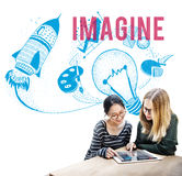 Imagine Ideas Creativity Imagination Light Bulb Concept Stock Photography
