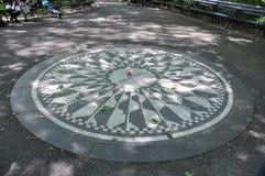 Imagine Lennon. Yoko Ono's tribute to John Lennon with Imagine Mosaic Stock Photo