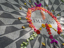 Imagine Mosaic. View of the Imagine Mosaic in the Strawberry Field in Central Park Royalty Free Stock Image