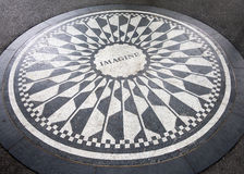 The Imagine mosaic at Strawberry Fields in Central Park, New York. The Imagine mosaic dedicated to John Lennon at Strawberry Fields in Central Park, New York Royalty Free Stock Photos