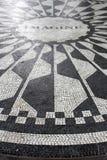 Imagine Mosaic, a tribute to sometime New York resident John Len Stock Images