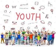 Imagine o ícone Conept da educação da liberdade das crianças Fotos de Stock Royalty Free