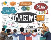 Imagine o conceito ideal criativo das ideias da visão da imaginação fotos de stock royalty free