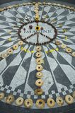 Imagine peace. Imagine mosaic tribute to John Lennon in Central Park, NYC Royalty Free Stock Images