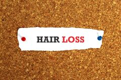 Hair loss on paper