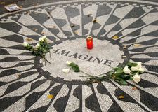 Imagine Strawberry Fields Garden of Peace Central Park Royalty Free Stock Photo