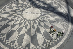 Imagine. Strawberry Fields. Located near Central Park West between 71st and 74th Streets, Strawberry Fields is a 2.5 acre area of Central Park that pays tribute Royalty Free Stock Photo