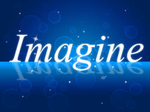 Imagine Thoughts Indicates Thoughtful Imagining And Vision Stock Photos